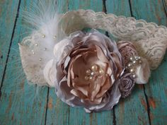 Soft Colors Headband Baby/Girl Headband Elegant by AldonasBoutique