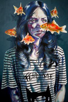 Feed me Acrylic con canvas  80x120