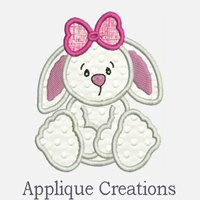 Bunny RabbitEmbroidery Applique DesignThree sizes by ACEmbroidery, $3.50