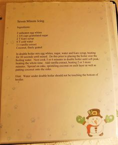 Recipes Seven Minute Frosting