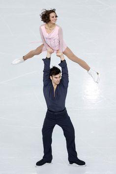 Meagan Duhamel and Eric Radford of Canada (Team Event) #Sochi2014 #FigureSkating