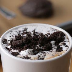 Chocolate quente com Oreo