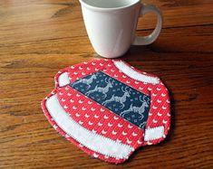 tea rug trivet Dog mug rug Doggie potholder Dog hot pad