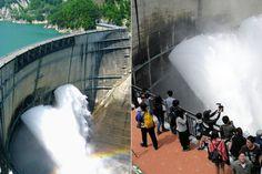 Vista espetacular em represa no Japão atrai grande número de visitantes Milhares de pessoas estão seguindo em direção à represa de Kurobe (Kurobe Dam) na cidade de Tateyama, província de Toyama.