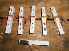 "Snowmen ""clothespin"" Magnets"