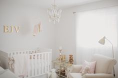 Project Nursery - Glamorous White and Gold Nursery