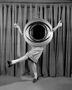 Girl in eye costume - not sure by whom...