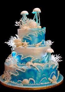 jellyfish wedding cake - Google Search