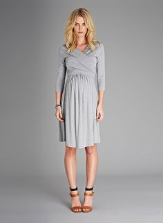 Stitch fix stylist: I love that this dress could be worn on its own, with a black or navy blazer, and with tights in late fall post-baby. Love the light grey color.