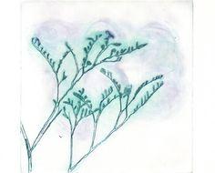 Original Aquatint SOUL FLOWERS Folk Abstract Wall by AnaDoraArt, $42.00