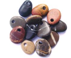 Mediterranean beach rock jewelry beads. Spanish by oceangifts
