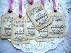 Tea Party Favor Tag / Alice In Wonderland Tea Party Tags / Mad Tea Party Favor Tags / Gift Tag / Baby Shower Favor Tag / Bridal Shower Tea