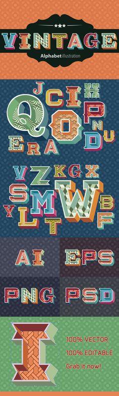 Vintage Alphabet Illustration