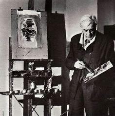 Georges Braque, Georges Braque in his Paris studio on ArtStack #georges-braque #art
