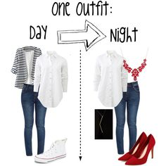 One Outfit: Two Ways by minimaliststylist on Polyvore featuring мода, rag & bone, WithChic, Converse and Furla