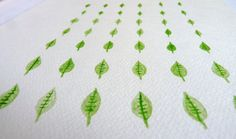 Tiny Leaves Watercolour Painting Original by FeatherAndSixpence