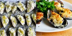 Mussels Per le cozze gratinate: Mussel Recipes, Mussels, Sushi, Spaghetti, Appetizers, Ethnic Recipes, Food, Pisces, Snacks