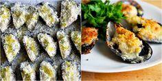 Mussels Per le cozze gratinate: Mussel Recipes, Mussels, Sushi, Spaghetti, Appetizers, Ethnic Recipes, Food, Pisces, Essen