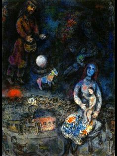 Marc Chagall「Holy Family」(1975-76)