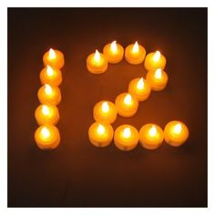 IMAGE® 100 PCS Battery LED Amber Tea Light Flickering Flashing Candle Light For Party Wedding Outdoor Garden - Amazon.com $41.59 and 3 Shipping
