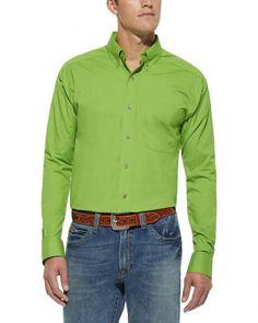 Ariat Solid Poplin Shirt - Big & Tall