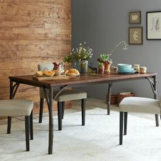 Arbor Table w/ Solid Wood Top | west elm -- seats up to six. Reg 749, sale $549.99.
