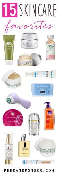 Big list of skincare products and what each one does. I'm excited to work my way through the list.