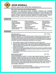 cool simple construction superintendent resume example to get applied check more at http resume examplesconstruction