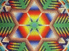 Arte Huichol - Flor de Peyote Mexico2 by Vbriano, via Flickr