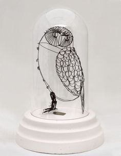 I have to do something like this for my next design project!    Katherine Harvey wire sculpture