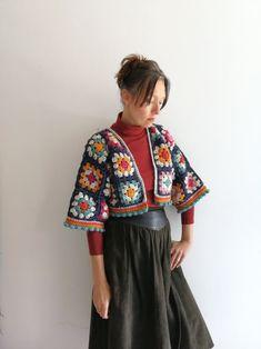 Gilet Crochet, Crochet Cardigan, Crochet Granny, Knit Crochet, Cardigan Pattern, Hippie Crochet, Crochet Jacket Pattern, Crochet Blanket Patterns, Crochet Stitches
