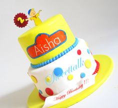 Caillou Cake, Birthday Cake, Specialty Cakes, Fondant Cakes, Custom Cakes by Sweettalk, Los Angeles