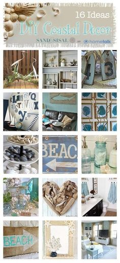 Want to Bring Spring & Summer Inside for Little to no Cost ? Try These Amazingly Timeless #16 Budget DIY Coastal Decor Projects !!! (Each has separate tutorial) by @- SAND - and Sisal