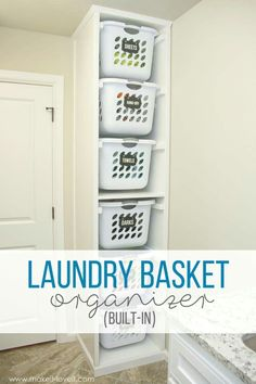 Built-in Laundry Basket Organizer