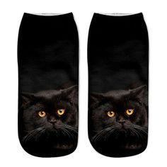 b8dc94fa1e 2018 New Printing Women Socks Brand Sock Fashion Unisex Socks Cat Pattern  Meias Feminina Funny Low Ankle HOT Sox funny cat