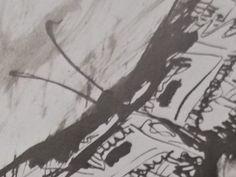 """Ce détail d'un dessin de Victor Hugo représente Psyché, une âme, un papillon avec ses antennes - Lié au poème """"ΨYXH"""", du recueil """"Les Chansons des rues et des bois (I. Floréal)"""" de ce même Victor Hugo."""