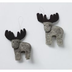 DwellStudio Reindeer Ornament - Set of 2