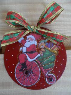 Natal 2013 - mimo pros amigos, CDs decorados, enfeite de porta ou para pendurar nas árvores de Natal.