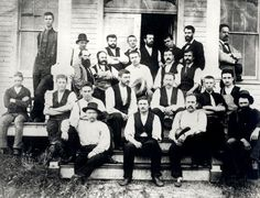 Thomas Edison is in this photo, Menlo Park, circa 1880. Can you spot him?
