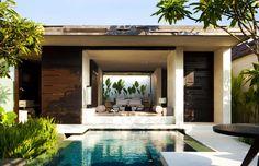 modern architecture - woha designs - alila villas uluwatu - uluwatu - bali - one-bedroom pool villa - exterior view - swimming pool