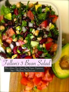 Fallon's 3 bean Salad *Raw, Gluten-Free, Grain-Free, Vegan, Vegetarian*