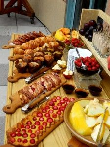 Brunch buffet spread