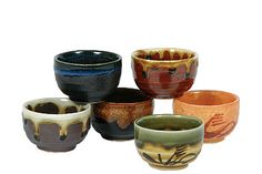 Natural Coulours Sake Cups