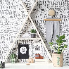 k i d s r o o m ♥ pinned by Interior House Colors, Interior Walls, Nursery Room, Nursery Decor, Room Inspiration, Interior Inspiration, Cat Room, Nordic Home, Daughters Room