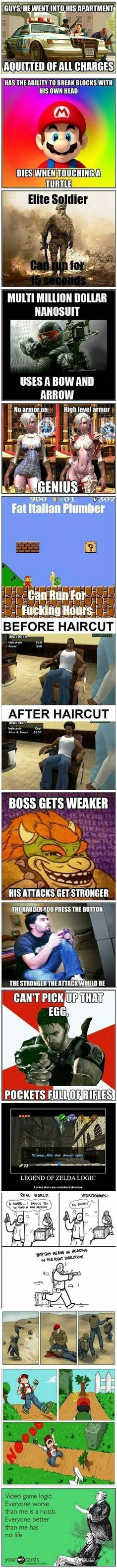Video Games Logic .     More Pic:http://www.trollcab.com/