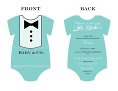 Customized Breakfast at Tiffanys Baby Shower Invitation For Boys (Printable) via Etsy