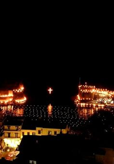 Good Friday night in Nafpaktos, Greece
