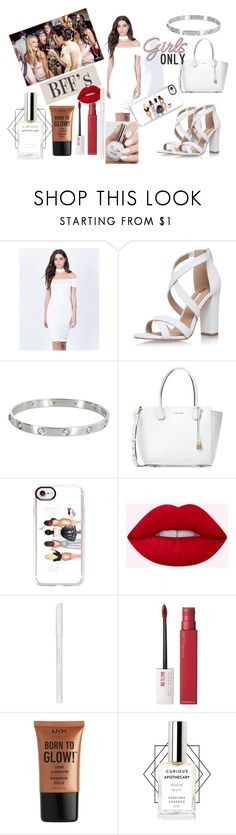 """""""girls night out"""" by yashara2002 ❤ liked on Polyvore featuring Imagenation, Miss KG, Cartier, Michael Kors, Casetify, Essence, Maybelline, NYX and NightOut"""