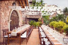 Papel Picado, long tables, burlap runners... gorgeousness!!!