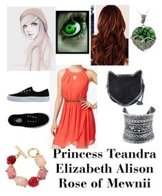 """Teandra Elizabeth Alison Rose"" by mysticwolf101 ❤ liked on Polyvore featuring BCX, Glitzy Rocks, Vans, STELLA McCARTNEY, Oscar de la Renta and LULUS"